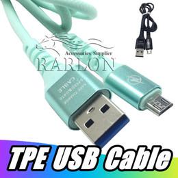 Новое поступление мода зарядный кабель 5 Цвет TPE 2A Micro USB C тип C синхронизация данных зарядное устройство кабель для Android Samsung S8 S10 Huawei P30 от