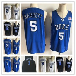 c0511dcca58 2019 New Duke Blue Devils NCAA RJ Barrett Jerseys Mens #1 Zion Williamson 2  Cam Reddish Bagley Royal Black White College Basketball Jersey