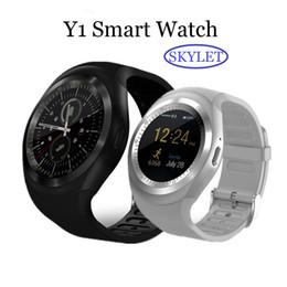 Y1 SIM kart Yuvası ile Bluetooth Smart Watch Bileklik Bilezik android cep telefonları için IPS Yuvarlak Su Perakende Paketi ile Dayanıklı nereden su geçirmez saatler tedarikçiler