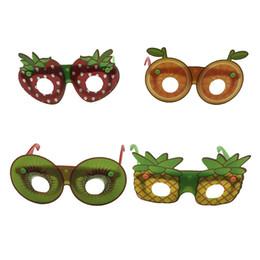 Vasos con forma de fruta online-Fruta creativa en forma de gafas de sol moda niños gafas decorativas hechas a mano bricolaje fiesta de dibujos animados gafas favor del partido TTA892