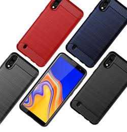 custodie protettive telefoniche zte Sconti Struttura in fibra di carbonio Slim armatura spazzolato TPU CASE COVER per Samsung Galaxy S10 5G M10 / A10 M20 M30 A20 A30 A40 A50 A70 100PCS / LOT