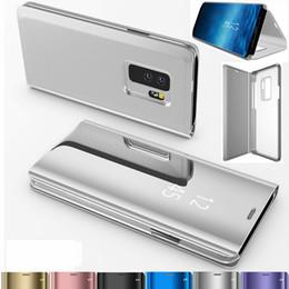 Étui en cuir Smart Mirror pour Samsung S10 S10 Lite S8 S8 Plus, étuis de protection pour placage avec support pour iphone x xs max 6 ? partir de fabricateur