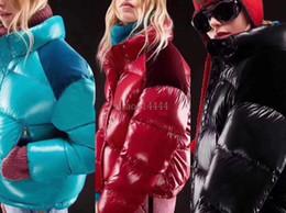 Molto cappotti invernali online-Rivestimento delle signore di inverno delle donne di alta qualità in piuma d'oca All'interno caldo cappotto 3 di colore del cappotto di qualità Molto buono