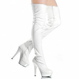 Черный И Белый Zip Matt Pu Длинные Сапоги Сексуальный Фетиш Панк Обувь Над Коленом Сапоги Бедро Высокий Каблук Платформа Дизайнер Обувь Женщины Сапоги от Поставщики белая матовая обувь