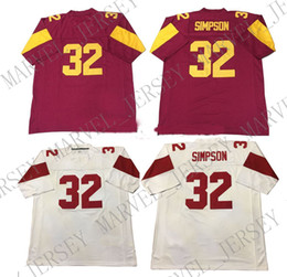 Cheap custom OJ Simpson USC Trojans Football Jersey  32 College Football  Customized Any name number Stitched Jersey XS-5XL discount customized  college ... ab1cd895a