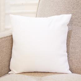 Isı Baskı beyaz Sublime Yastık kılıfı 45 * 45cm DIY Boş Yastık Yastık Kapak için Isı Transferi Koltuk Yastık Kılıfları A07 nereden siyah altın koltuk kapağı araba tedarikçiler