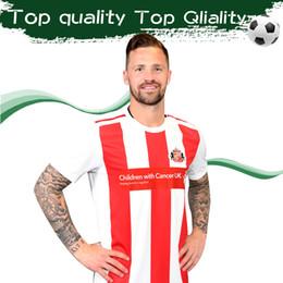 fußball uniformen weiß Rabatt 2020 Sunderland Home Rot Weiß Fußball Trikot # 9 GRABBAN # 25 BORINI Fußball Trikot 19/20 Maillot De Foot Uniforms On Sales