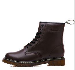 2019 echtes Leder Männer Stiefel Dr. Martenss Winter Knöchel Schneeschuhe Schuhe Schnürschuhe Für Frauen Hohe Qualität Vintage Martin Boot Schneeschuh von Fabrikanten