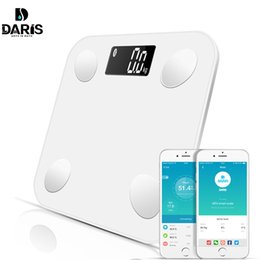 smart body scale Promo Codes - Bluetooth scales floor Body Weight Bathroom Scale Smart Backlit Display Scale Body Weight Body Fat Water Muscle Mass BMI