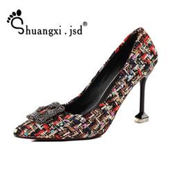 Argentina Zapatos de vestir de diseñador Shuangxi.jsd Sexy Woman Heel 2019 Summer New Tacón alto Moda Tacones delgados Wild Lattice Party Suministro
