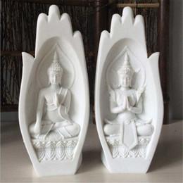 2 Pcs Petit Statue De Bouddha Moine Figurine Tathagata Inde Yoga Mandala Mains Sculptures Décoration de La Maison Accessoires Ornements ? partir de fabricateur
