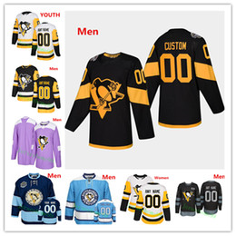 2019 jersey de pingüinos personalizados 2019 Stadium Series Custom Jersey Pittsburgh Penguins Sidney Crosby Kris Letang Jake Guentzel Evgeni Malkin Phil Kessel Jerseys jersey de pingüinos personalizados baratos