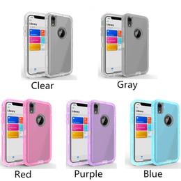 3 in 1 chiaro del robot della cassa del telefono Defender protezione trasparente per iPhone Pro 11 Max X Xs Xs XR Max Samsung Galaxy note10 S10 S9 S8 più da
