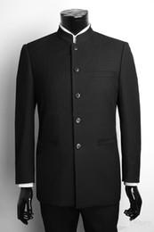 giacca araba Sconti Nuovi smoking su misura per lo sposo monopetto Abiti per sposo e sposo neri (giacca + pantaloni) 128