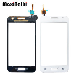 "10 PZ / lotto Qualità ORI 4.5 ""Per Samsung Galaxy Core 2 B0511 G355H G355 Touch Screen Digitizer Pannello Frontale in vetro Sensore da"