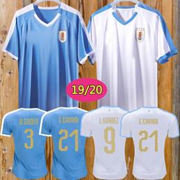 2019 uniformes de equipo de futbol 2019 Copa América Uruguay Jersey de fútbol 19/20 Local 9 L.suarez 21 E.cavani Camiseta de fútbol # 3 D.GODIN Uniformes de fútbol del equipo nacional de visitante uniformes de equipo de futbol baratos