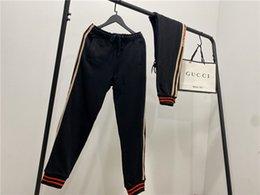 G Harf Yan dokuma Harf Pantolon elastik bel parça Pantolon Bay Bayan Casual spor Jogger Açık Siyah Sweatpant nereden kore kış etekleri tedarikçiler
