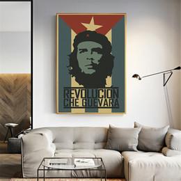 2019 mano de buda pinturas al óleo Revolución famosa hombre Che Guevara historia mundial lienzo pintura pared cartel arte imagen Vintage decoración del hogar Cuadros decoración