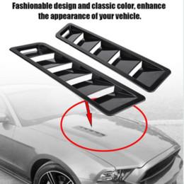 2PCS Car Hood Vent Louver Pannello di raffreddamento ad aria Trim in plastica ABS nero Universale da in acciaio 1997 fornitori