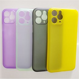 casos claros coloridos Desconto Venda quente capa para iPhone 11 11Pro X 8 7 6 5 5C 4 Plus Super Ultra slim Suave Transparente caso capa colorida Limpar suave PP