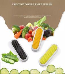 Пластиковые картофелеуборочные машины онлайн-двойные концы складной овощечистка резак картофель морковь пластиковая ручка, домашняя кухня фрукты овощечистка шеф-повар кухня приготовления гаджет