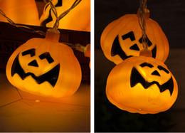 2019 lampade a bolle d'acqua Stringa di teschio di zucca di Halloween Luci 2M 10 perle di LED appese lanterne di zucca Decorazione del partito di Halloween
