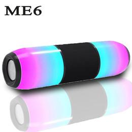 Canada Portable LED Haut-parleurs Bluetooth Musique MP3 sans fil Audio TF USB Radio FM Boombox Stéréo Subwoofer Boîte de barre de son PC Téléphone Haut-parleur Offre