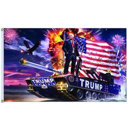 2019 lona da bandeira Trump tanque bandeira Donald John Trump Amercia Flags Poliéster Cabeça De Grommet Metal Ilhós Personalidade Decortive Trump Bandeira Bandeira MMA1328 desconto lona da bandeira
