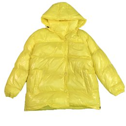parkas for winter Coupons - 2019 Plus size Glossy Winter coat women Down Jacket For Women Thick Bright Black Shiny Jacket Yellow Hooded Cotton Parkas 690