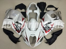 99 hayabusa injection mold Coupons - New ABS motorbike Fairings Kit+Tank cover Fit For SUZUKI Hayabusa GSXR1300 97 98 99 00 01 02 03 04 05 06 GSXR1300 1999-2007 white silver red