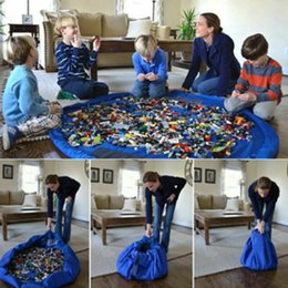2019 sacos diy para miúdos Miúdos Jogar Mat 150 CM Brinquedo Magia Saco De Armazenamento Organizador DIY Tapete Para Legos Portáteis desconto sacos diy para miúdos