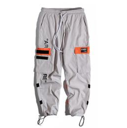 Pantalones harem hip hop de carga online-Pantalones laterales para hombre Pantalones Harem de carga Hip Hop Casual Hombre Tatical Joggers Pantalones Moda Streetwear Pantalones Casual