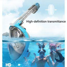 Maschera subacquea hd online-Snorkeling Maschera Occhiali Full Dry Snorkel Miopia Nuoto Equipaggiamento HD ampio Campo visivo Attrezzatura da sub uomini donne