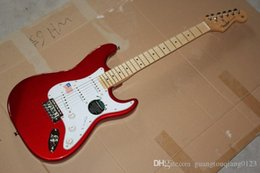 electric guitar china free shipping Promo Codes - Free shipping Top Quality China Custom Guitar stratocaster 6 string Metal red Electric Guitar