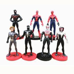 Figura para bolos on-line-Figura de ação Filme SpiderMan Brinquedo Retornando Heróis Aranha Homem Aranha Dos Desenhos Animados Speelgoed Action Figure Modelo Boneca de Presente Decoração Do Bolo