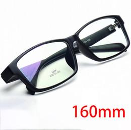 f1549b2405 Vazrobe Marco de anteojos de gran tamaño de 160 mm Hombres Mujeres TR90  Enormes Anteojos Hombre Negro Gafas graduadas para rostro ancho y gordo