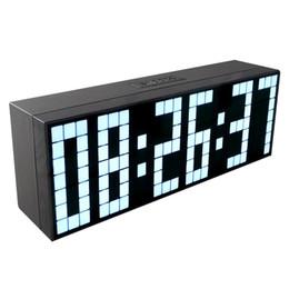 2019 temporizador grande LED grande Despertador Mostrar Temporizador de cuenta regresiva Temperatura Fecha Calendario 6 Grupos Alarmas Reloj digital Moda Decoración para el hogar temporizador grande baratos