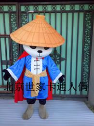 Kung fu tier cartoons online-Schönes Kung Fu Panda Maskottchen Kostüm Zeichentrickfigur Mascotte Panda Tier Maskottchen Kostüm für Erwachsene