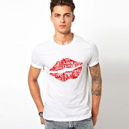 belo sexo novo Desconto Sexo Grandes lábios vermelhos Camisetas Personalidade True Blood camiseta Engraçado Manga Curta bonito lábio homens Tshirts 2019 Nova Moda verão