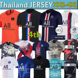 Füße setzen online-Maillots de foot 19 20 PSG Fußball Jersey New Mbappe germain Jersey camisetas Fußballmeister Shirt Männer-Sets Kinder