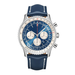 2019 relojes de hombre de buena calidad Brietling relojes para hombre reloj de cuarzo reloj de lujo 43 mm de la cara calendario reloj impermeable buena calidad relojes de hombre de buena calidad baratos