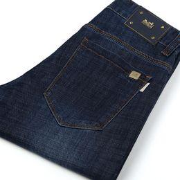 Jeans reta alta cintura homens on-line-Calças de brim dos homens de grandes marcas são puro algodão estiramento tubo reto com cintura alta e de alta qualidade desgaste dos homens rock revival verdadeira marca diesel