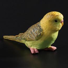 Simulazione mini pappagallo carino uccello figurine animale modello home decor in miniatura fata decorazione del giardino accessori moderna figura da mini figurine animali fornitori