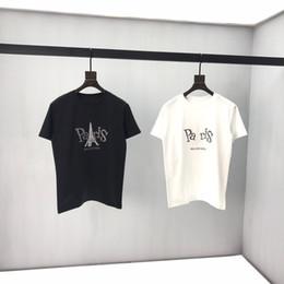Painel de classificação de cor on-line-2020ss primavera e algodão novo alto grau de verão impressão de manga curta em torno do pescoço T-shirt painel Tamanho: S-l-xl-xxl- Cor: 2s brancos pretos