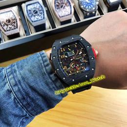 90a922be40f6 6 colores Alta versionm RM 50-01 LOTUS F1 TEAM Tourbillon Estuche de fibra  de carbono RM50-01 Reloj automático para hombres Relojes negros con correa  de ...