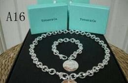 Bracelet style locket en Ligne-Flocons de médaillons Authentique tiffany925 perles en argent Sterling Médaillon Collier Convient Style européen Pandora Style Charms Collier A16