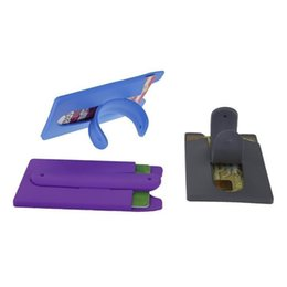 klebriger kreditkartenhalter für telefon Rabatt Neueste 2 in 1 Kreditkarteninhaber mit Handyhalter Universal 3M Sticky Money Clip Wallet Kreditkarteninhaber Stick-On Phone Case