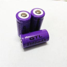 2019 3.7v литий-ионный аккумулятор aa CR123 / GTL 16340 2300 мАч 3.7 В литиевая аккумуляторная батарея Бесплатная доставка