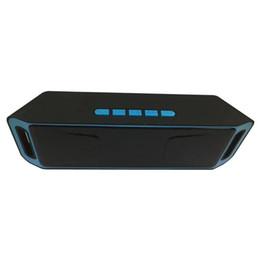 Mini beweglicher subwoofer drahtloser bluetooth lautsprecher online-SC208 Drahtlose Bluetooth-Lautsprecher Mini-Lautsprecher tragbare Musik Bass Sound Subwoofer-Lautsprecher für Iphone Smartphone und Tablet-PC