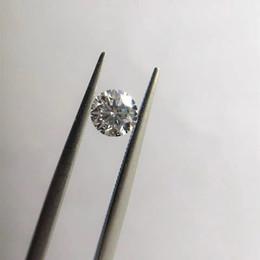 2019 schwarze koralle halskette 1pc 1 DF Lab Moissanite Stein VVS1 Perfekte Rundschnitt loser Stein-Diamant-Ring für Frauen Anhänger Herstellung feiner Jewerly Grown